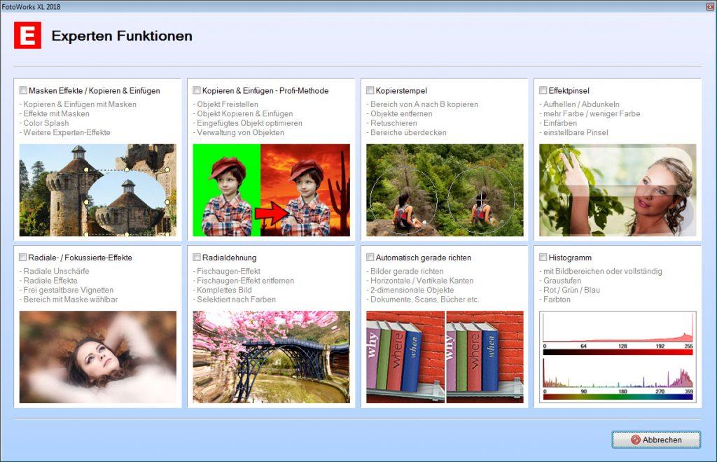 Bildbearbeitungsprogramm Funktionen